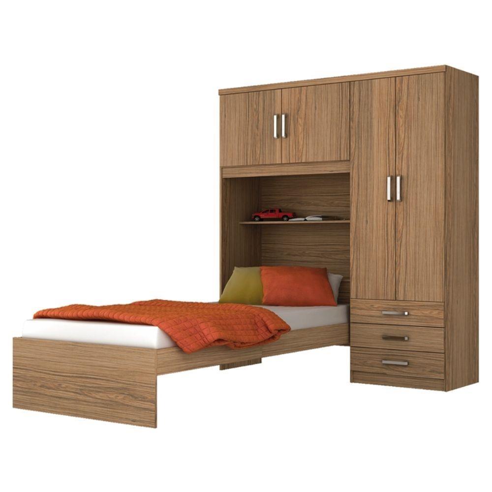 Muebles Mbs Juego Dormitorio Cama Ropero Rustico - $ 6.190,00 en ...