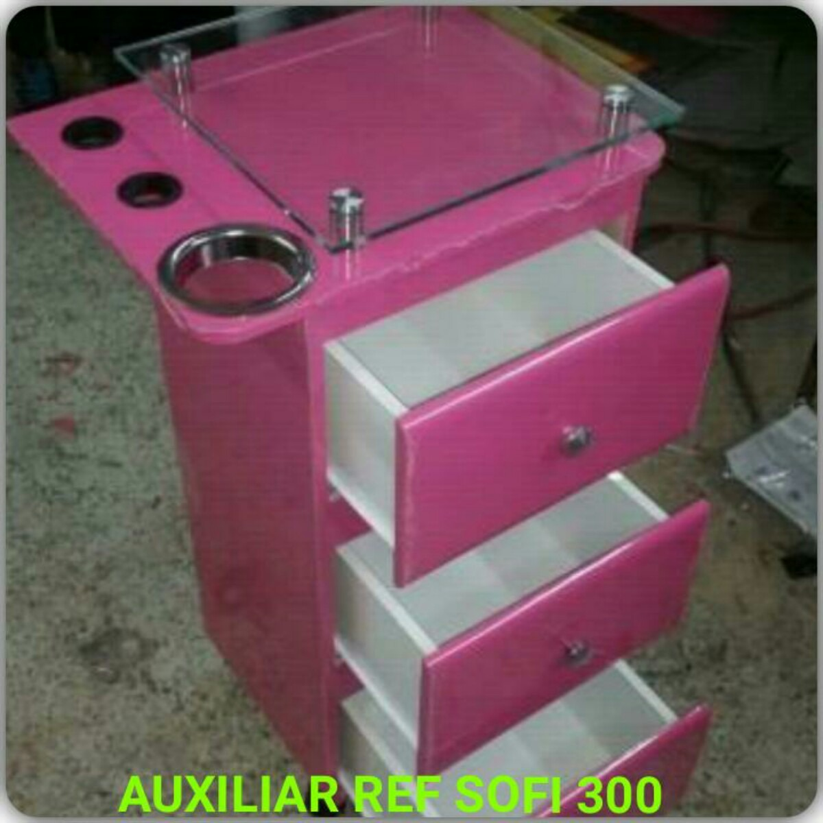 Muebles Mesa Auxiliar Organizador Tocador Para Peluqueria Sp  # Muebles Peluqueria Bogota