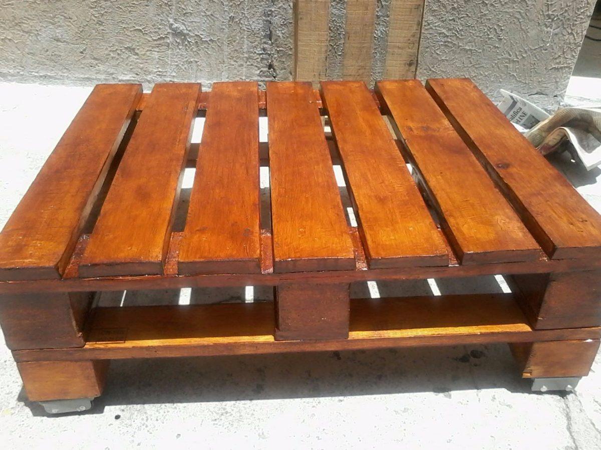 Hermosos muebles madera reciclada pallets mesa de centro - Muebles madera ...