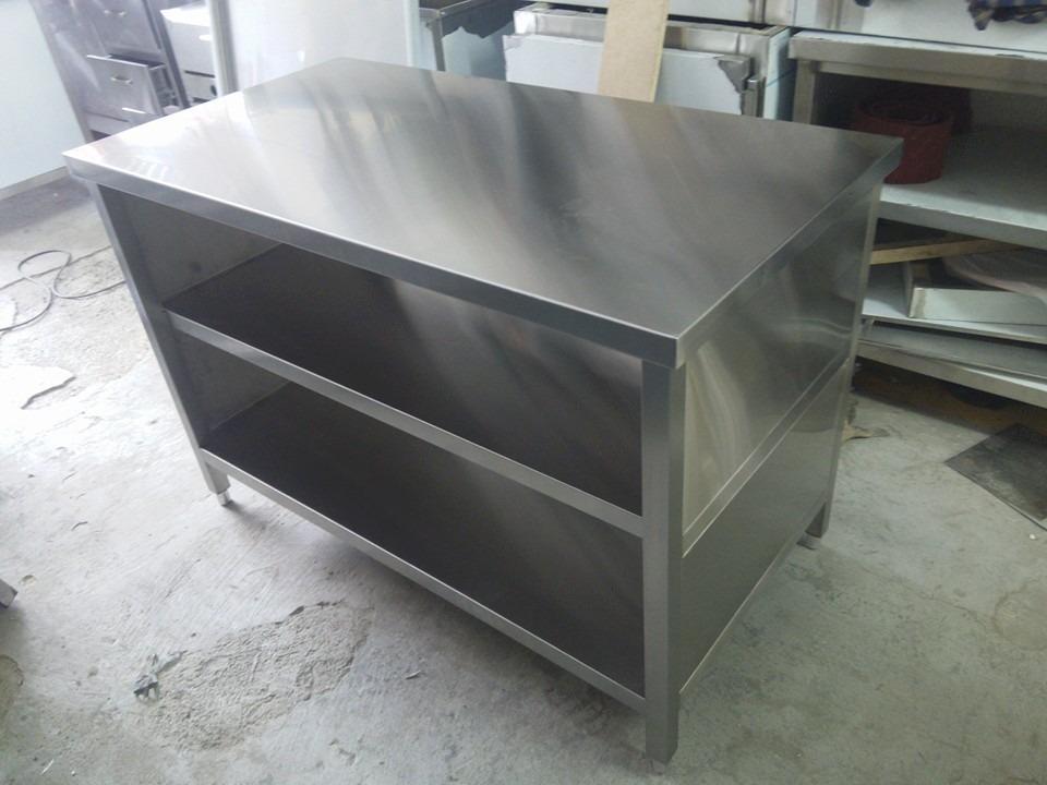 Muebles mesas mesones en acero inoxidable 1 en for Muebles de acero inoxidable