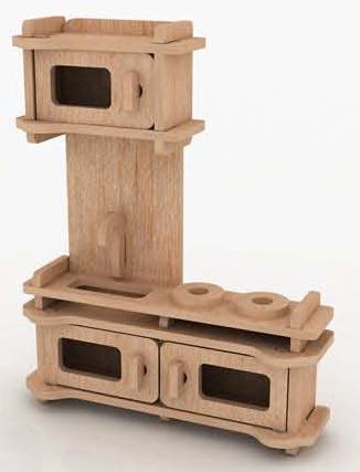 Muebles miniatura casa de mu ecas mdf kit gmcm022 130 for Muebles kit