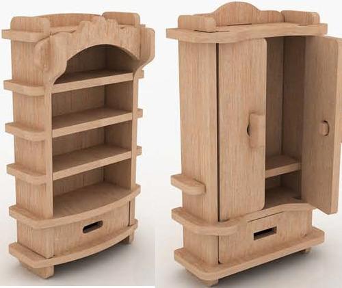 Muebles miniatura casa de mu ecas mdf kit gmcm022 130 for Fabricacion de muebles mdf