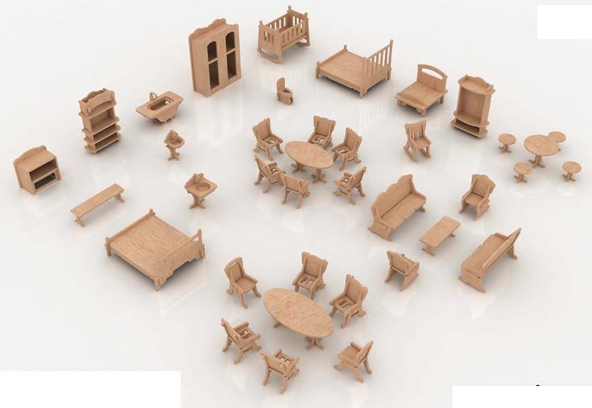 9f90f3cedf26 Muebles Miniatura Casa De Muñecas Mdf Kit Gmcm023 -   190.00 en Mercado  Libre