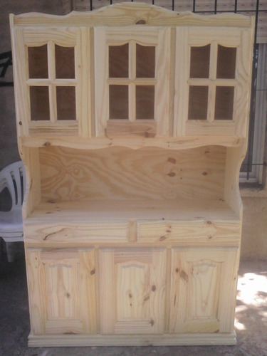 muebles modular de pino macizo 120 mt (monte grande)