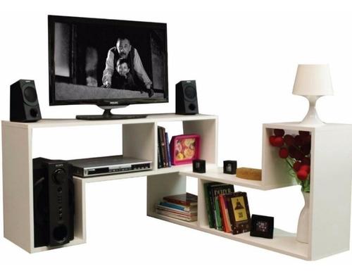 muebles modulares minimalistas para tv, audio, biblioteca