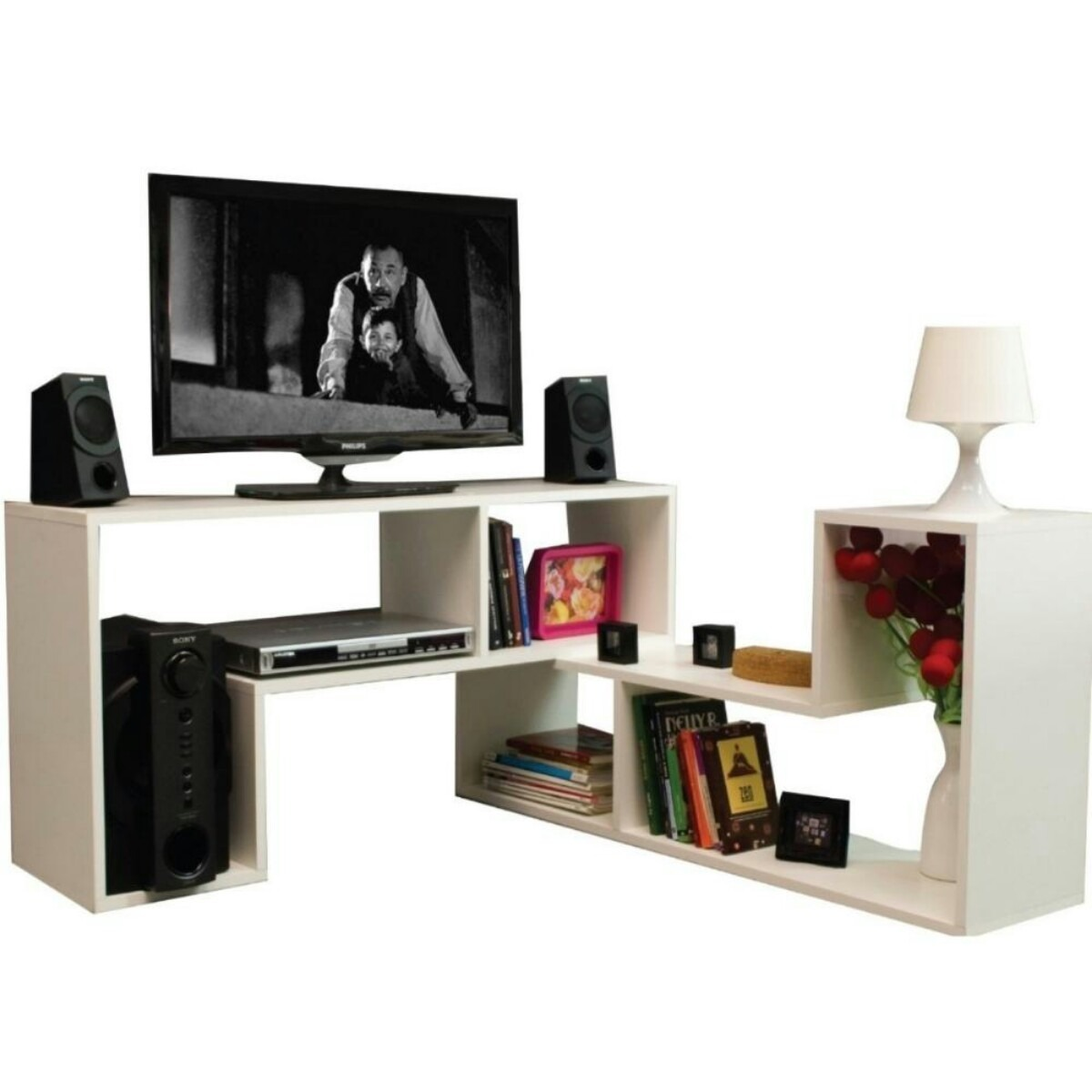 Muebles Modulares Minimalistas Para Tv Pc Audio Biblioteca Bs  # Muebles Modernos Diga Center