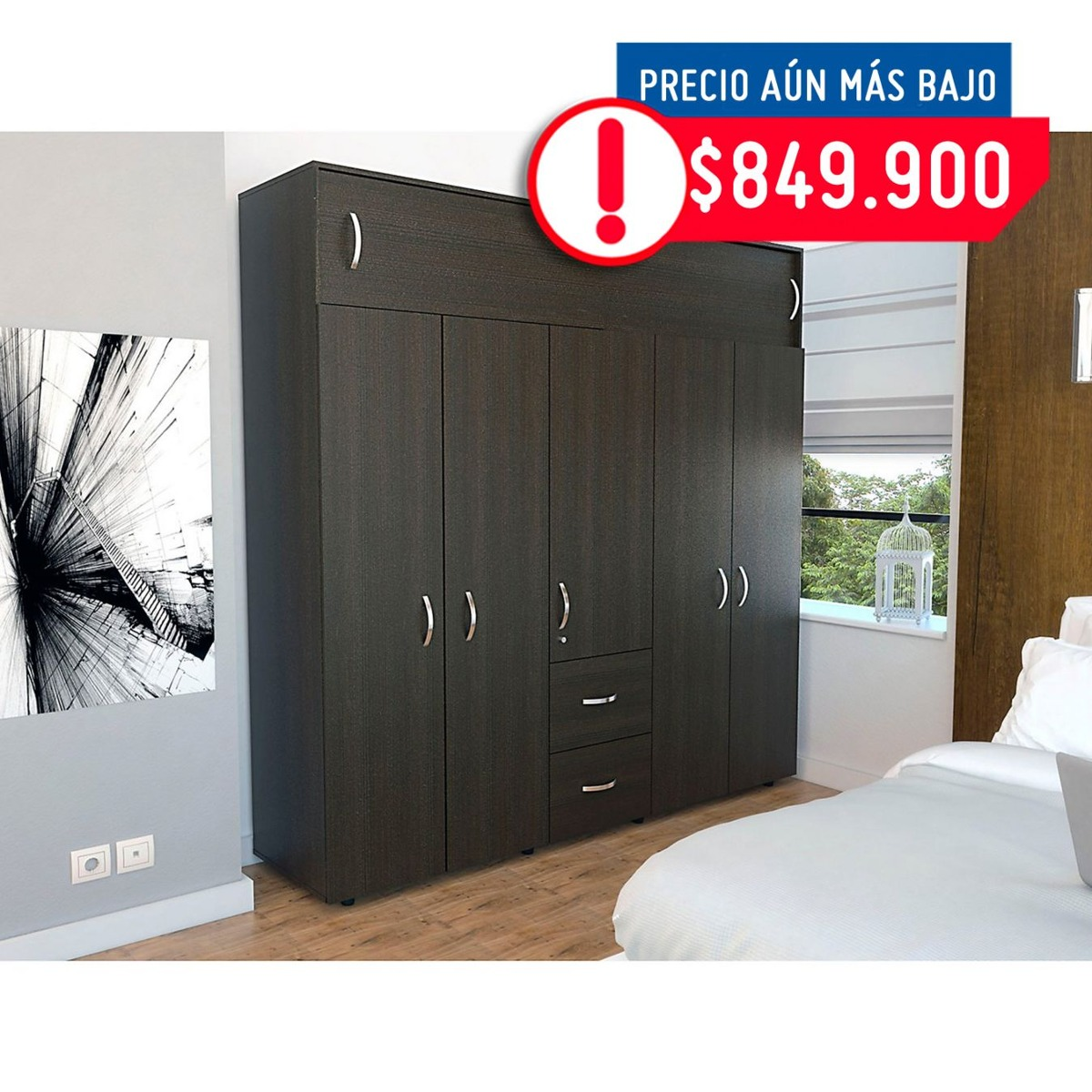 Rta Design Closet Bigaf 204x200.1x50.3cm Muebles Mueble Acu2 ...