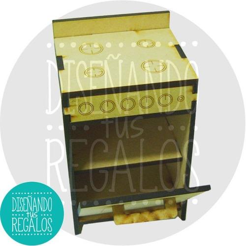 muebles muñecas barbie mdf cocina completo - cod. cmbs-003