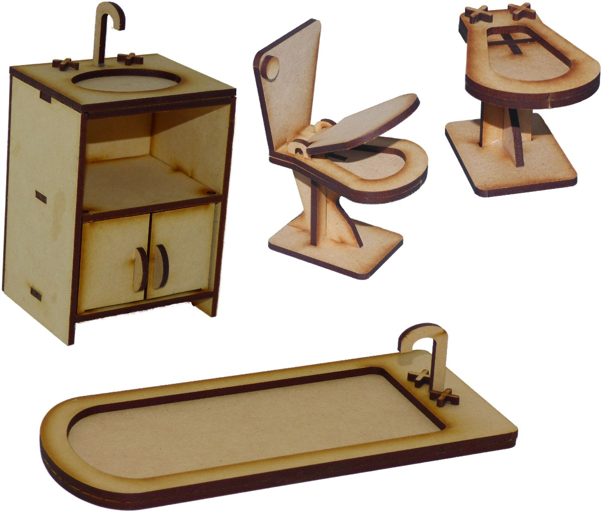 Muebles Mu Ecas Barbies Casa Fibrofacil Juego De Ba O 218  # Muebles Fibrofacil Para Casa Munecas