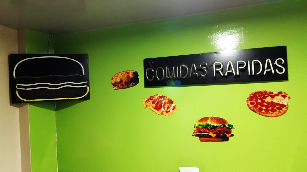 muebles negocio comidas rápidas