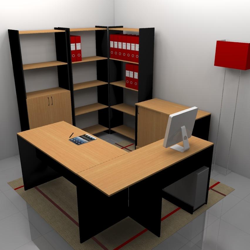 Muebles de oficinas for Medidas mesa oficina