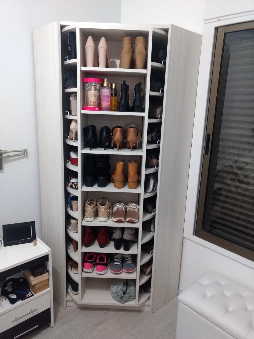 Muebles Organisador De Zapatos Giratorio 60 Pares 2x80x80  # Muebles Para Zpatos