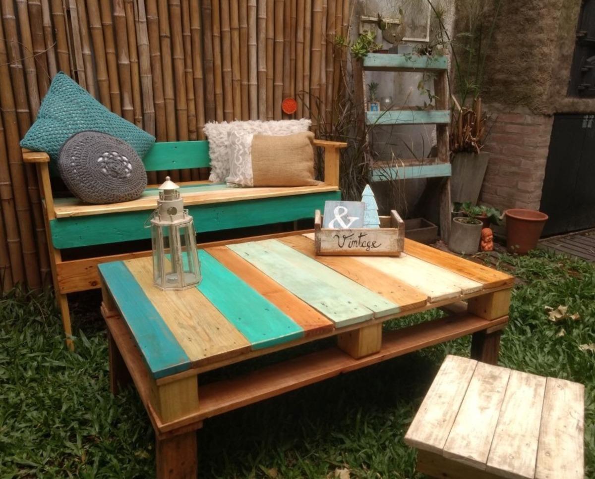 Muebles palets 7 en mercado libre for Fabricacion de muebles de palets de madera