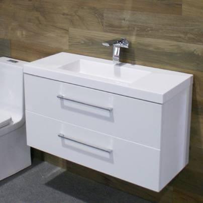 Muebles Para Baño Espejo Lavabo Cordoba 90 - $ 8,824.00 en Mercado Libre