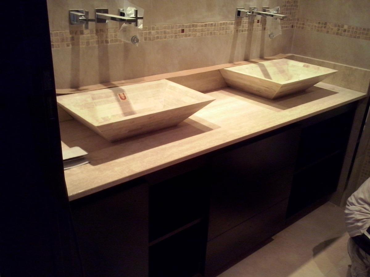 Muebles Para Ba O Y Cocina Vanitory Melamina Madera Lustrada  # Muebles Vanitory