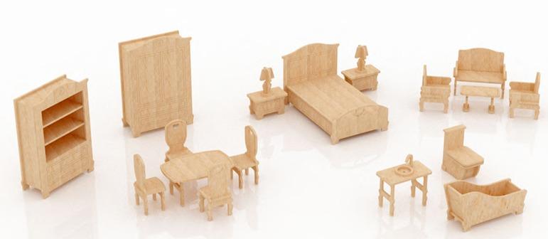 Muebles para barbie monster high en madera mdf set 2 for Muebles en madera mdf