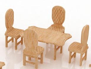 Muebles para barbie monster high en madera mdf set 4 for Muebles en madera mdf