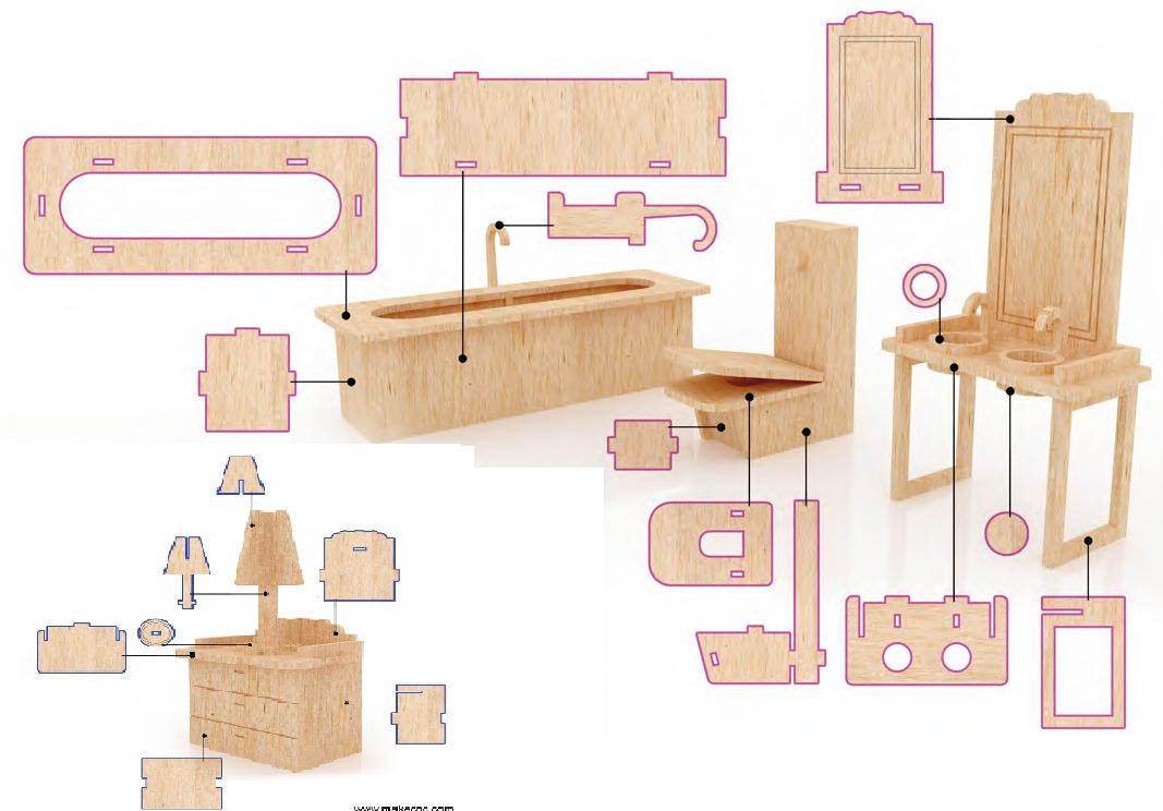 muebles para casa de mu ecas mdf kit de muebles miniatura