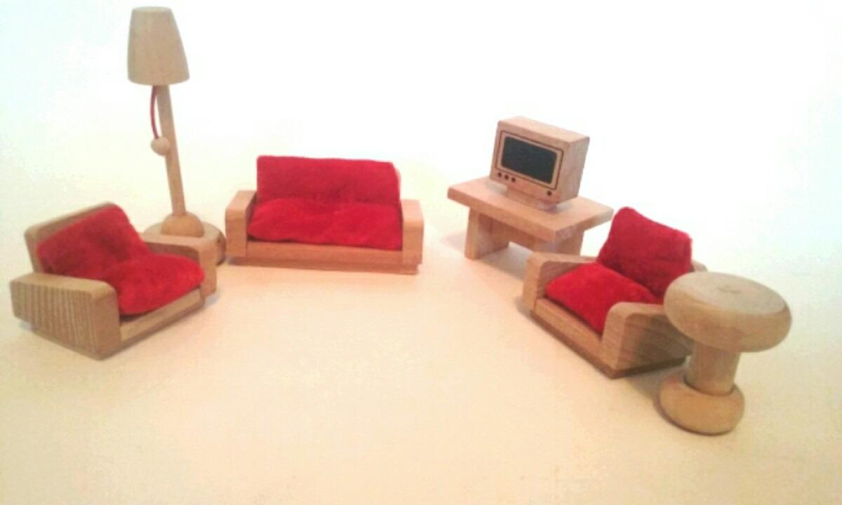 Muebles para casas de mu eca de madera ba o cocina for Muebles casa de munecas