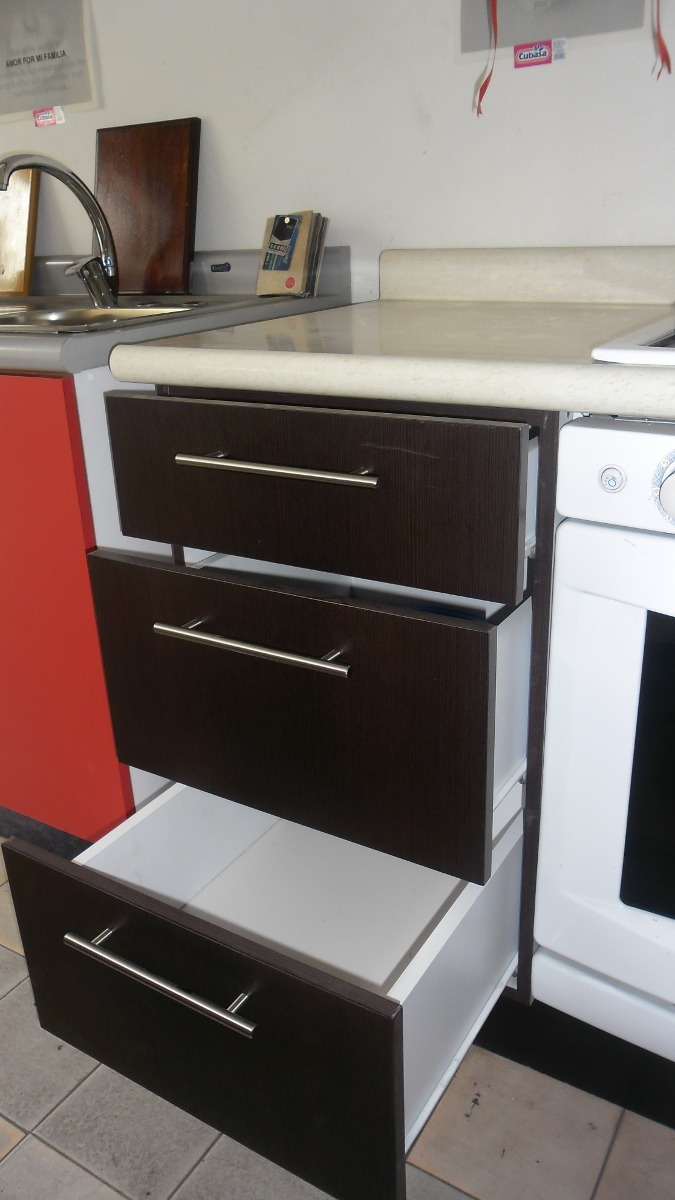 Muebles de 3 cajones para cocina integral de 30 a 50 cm for Muebles de pared