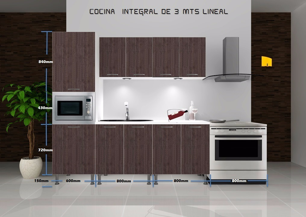 Muebles para cocina linea econ mica gabinetes madera for Gabinetes cocina integral
