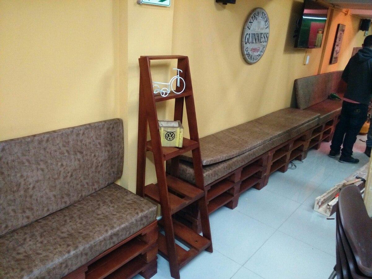 muebles para cualquier negocio hecho con estibas