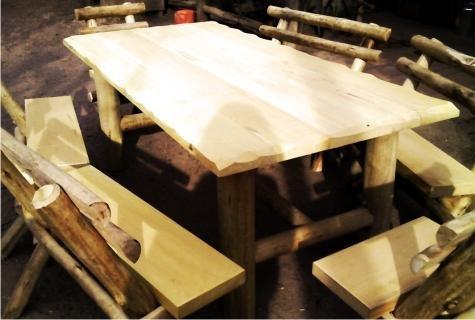 muebles para exterior en madera mesas sillas sillones