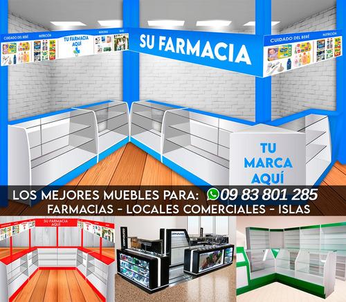 muebles para farmacias completas y locales. todo el ecuador