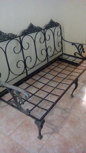 muebles para jardin en hierro forjado usado