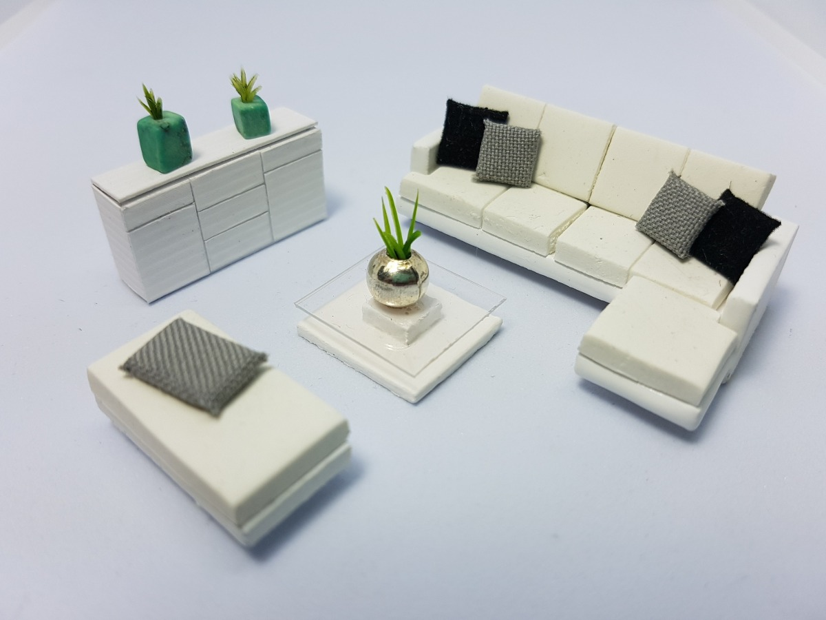 Muebles Para Maqueta Sala Escala 1 50 En Mercado