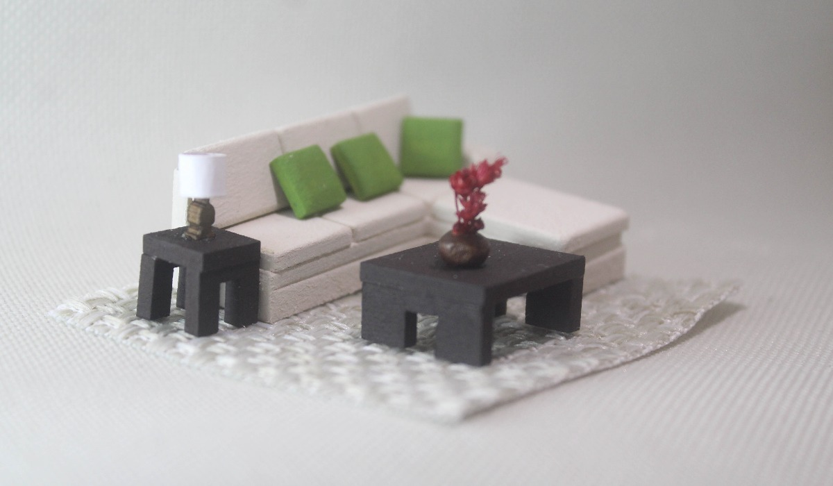 Muebles para maquetas en mercado libre for Como hacer muebles para sala