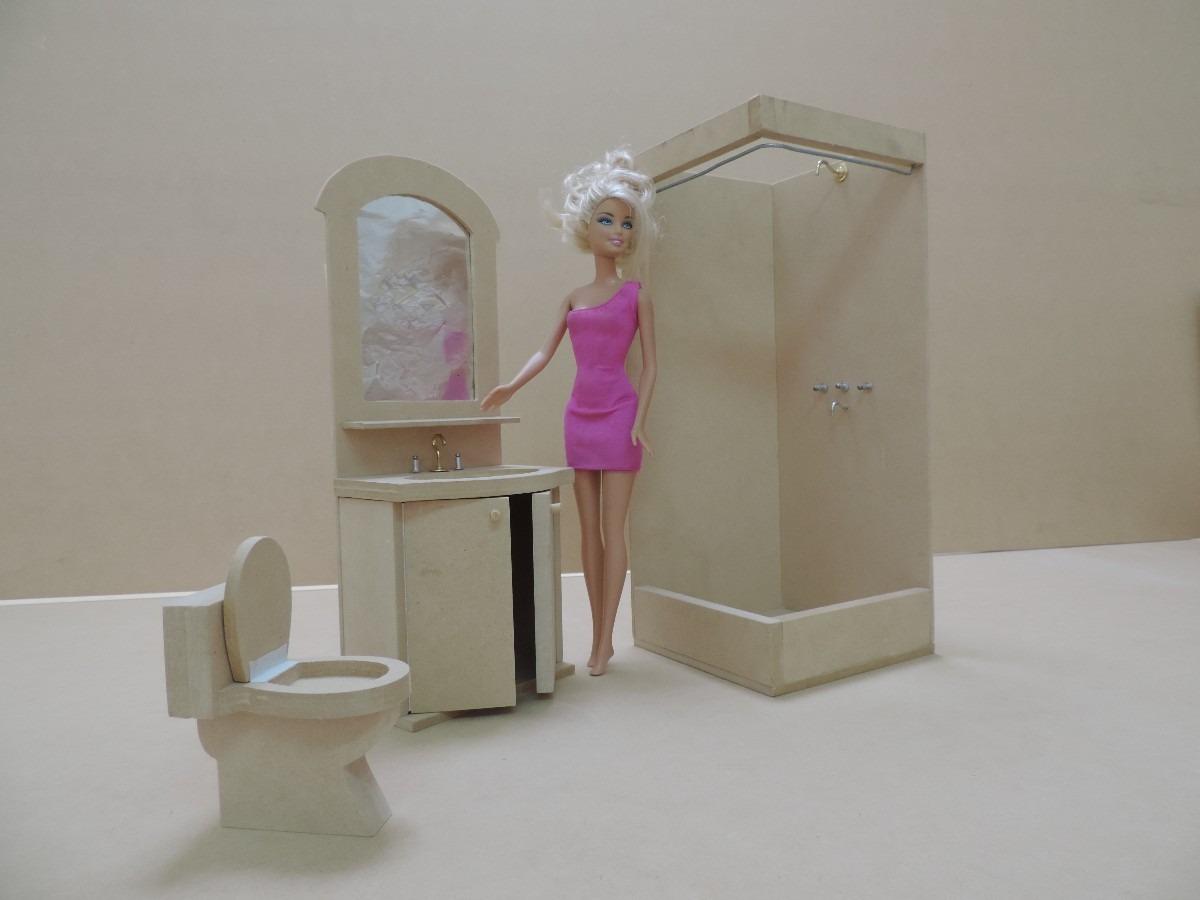 Casita De Muñecas Barbie Con Muebles Lista Para Pintar!! - $ 3.090 ...