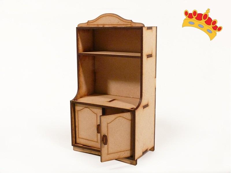 Muebles Para Muñecas - Alacena Para Cocina En Fibrofácil - $ 75,00 ...