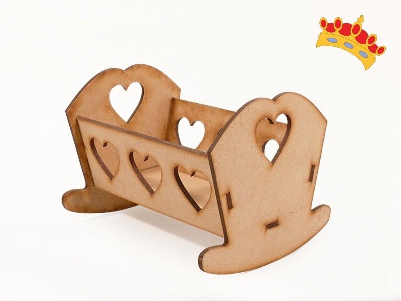 Muebles Para Muñecas - Cuna Mini 8cm En Fibrofácil - $ 20,00 en ...