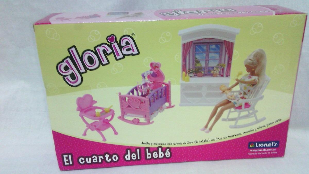 Muebles Para Muñecas - Gloria - Cuarto De Bebe Juegos Vestir - $ 690 ...