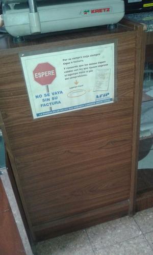 muebles para panadería mostrador y paneras