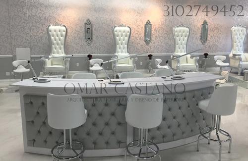 muebles para pedicure y manicure,