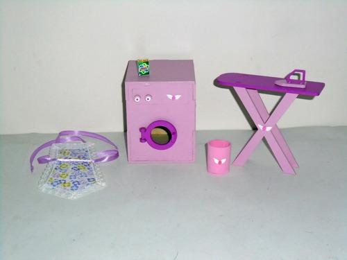 muebles pintados - casita barbie - juego de lavadero