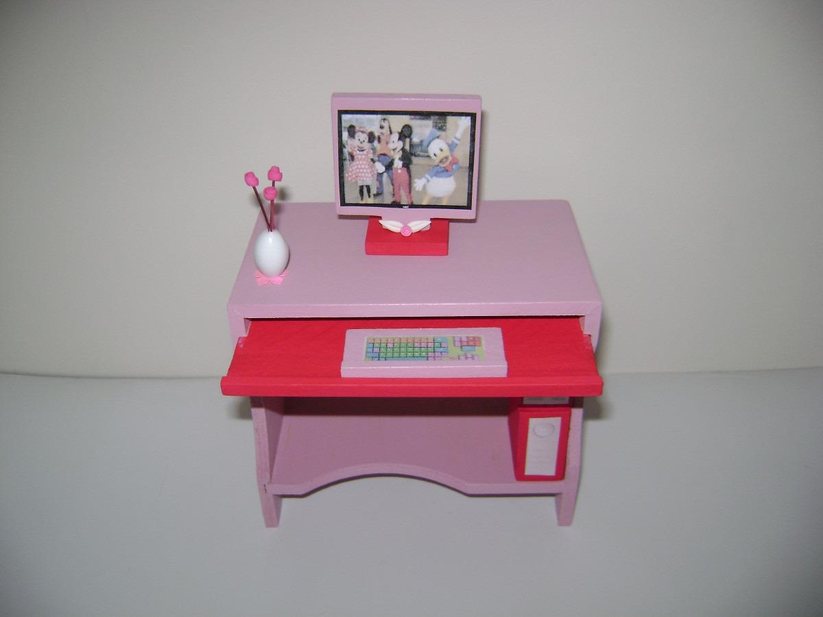 Muebles Pintados Para Casita De Barbie. Sala De Computación - $ 260 ...