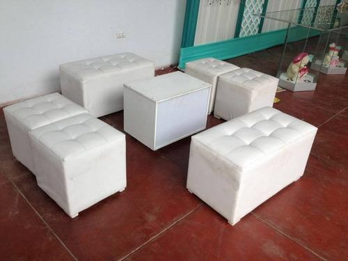 muebles puff para sala, dormitorio en cuero mesas de centro