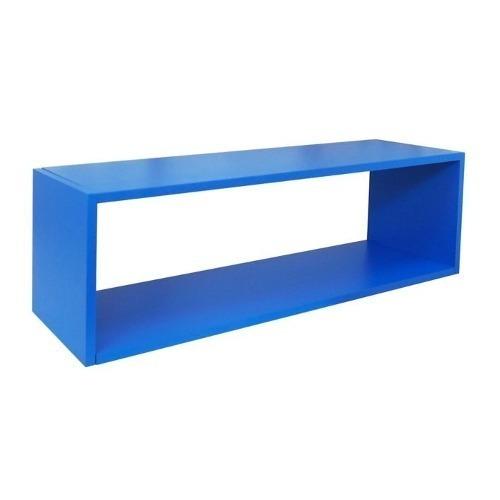 muebles repisa rectángulo 83x25x22cms azul repisas infa ch12