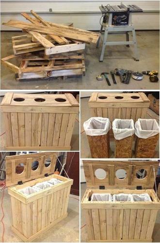 muebles restaurados y de material reciclado