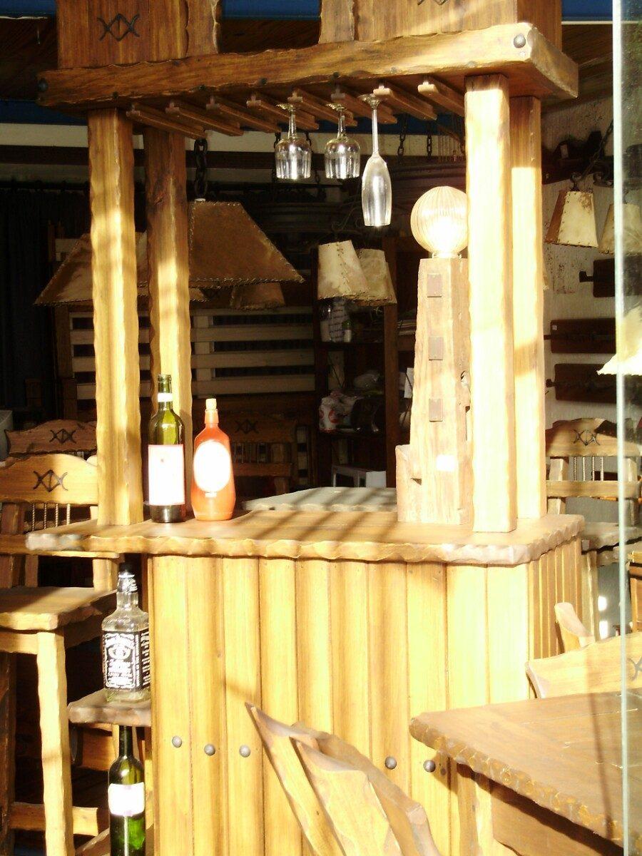 Donde Vender Muebles : Muebles rustico barcito madera maciza en
