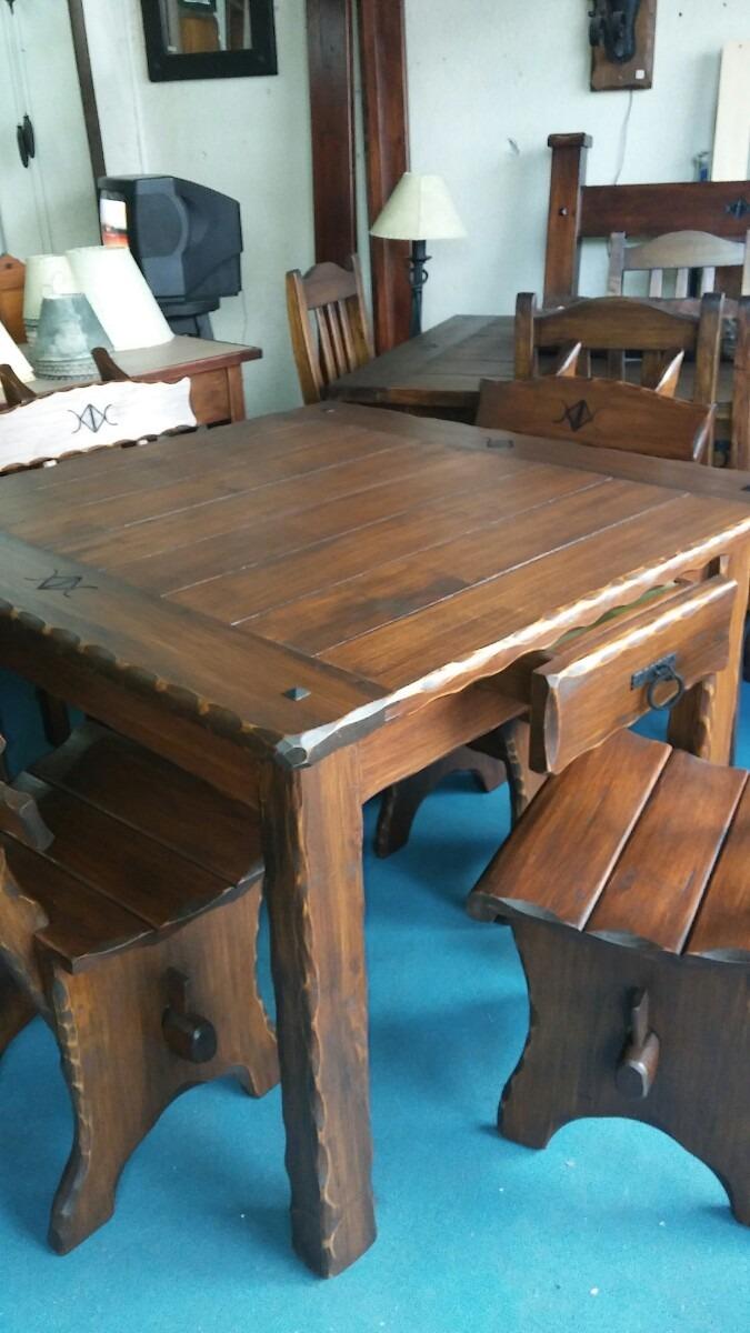 Muebles Rusticos Arte Y Decoracion Comedor 4 Sillas Rustico ...