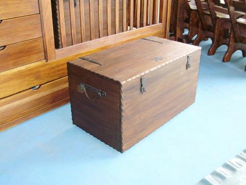 Muebles Rusticos Baúles En Madera Con Herrajes En Hierro  $ 7500,00