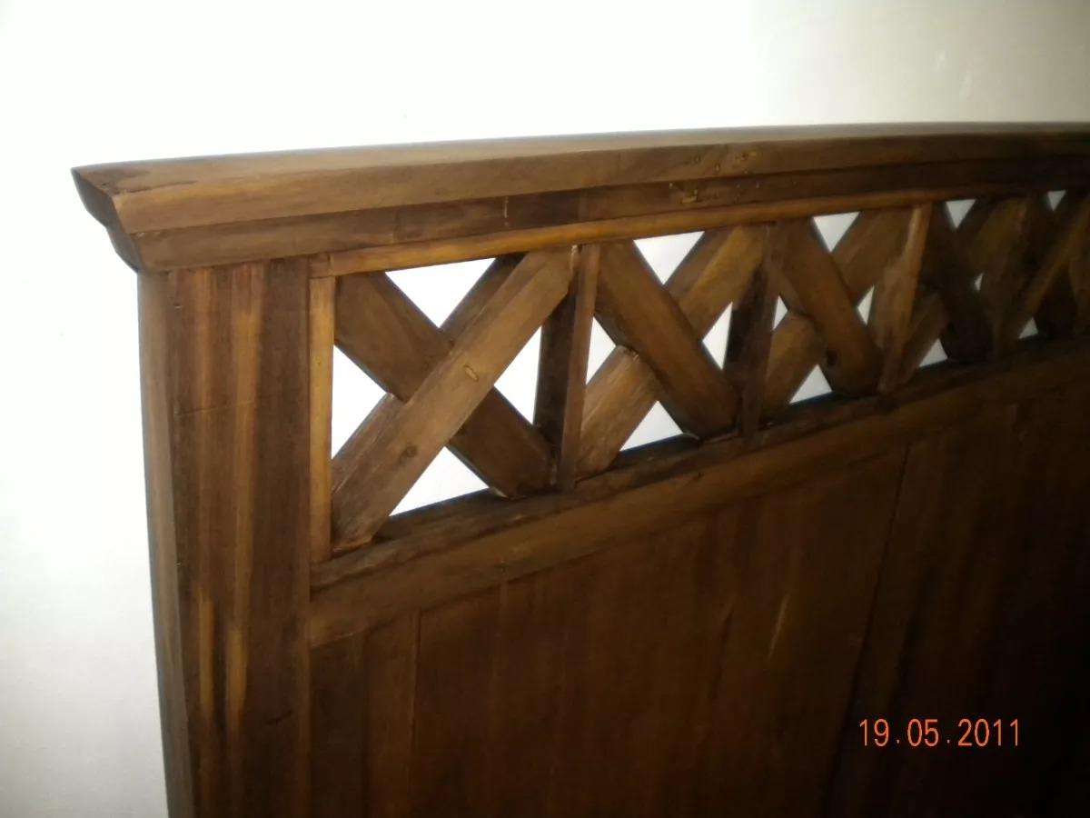 Muebles Rusticos Cabecera Sommiers Mas 2 Mesas De Luz - $ 4.990,00 ...