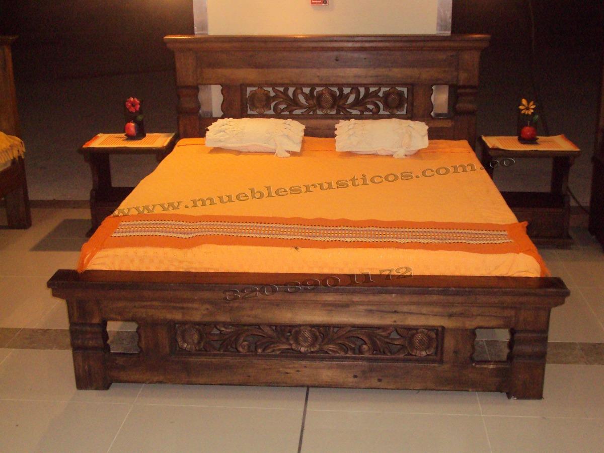 Muebles rusticos cama comedor 3203901172 6810011 maciza for Comedores de madera baratos