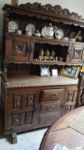 muebles rústicos de cuero sala y comedor.