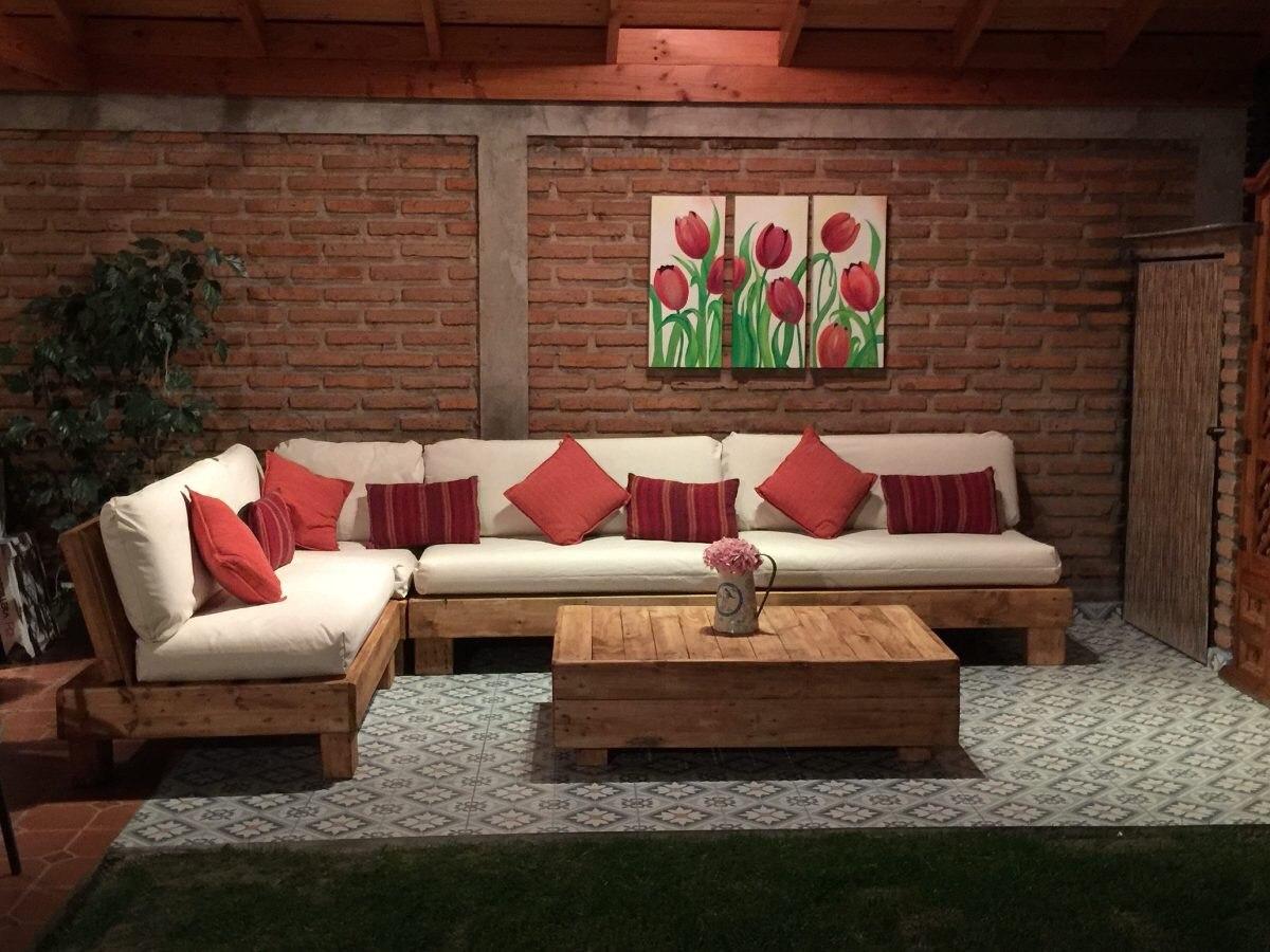 Muebles r sticos de palets sof s esquineros en mercado libre - Imagenes de muebles esquineros ...