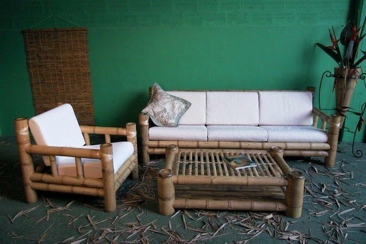 Muebles rusticos en guadua combo casa de campo for Muebles para casa de campo